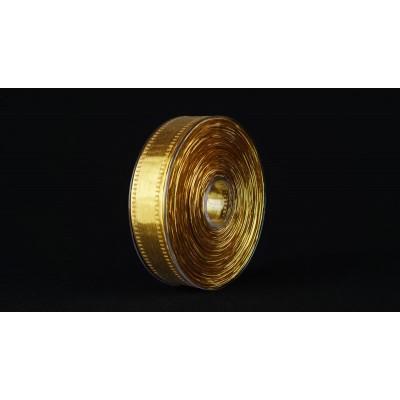 Лента Specchio, 25 мм*25 м, золотая
