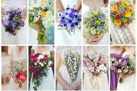Як вибрати весільний букет? Кольорові рішення весіль диктують колір для букета нареченої