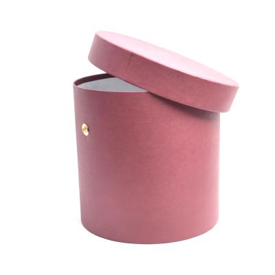 Шляпная коробка темно-красная