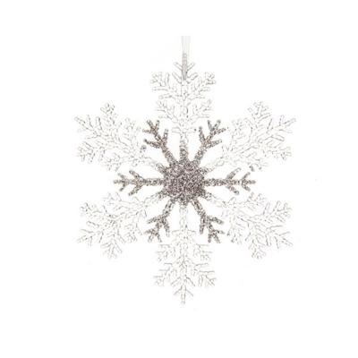 """Новогодняя подвеска """"Снежинка"""" серебряная"""