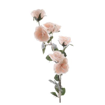 """Искусственный цветок """"Роза"""" бежевый"""