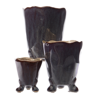 Кашпо керамика марсала