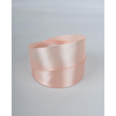 Лента атласная 4 см персиковая