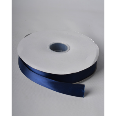 Лента атласная 2,5 см темно-синяя DL