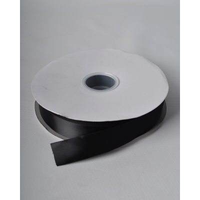 Лента атласная 2,5 см черная DL