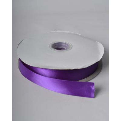 Лента атласная 2,5 см пурпурная DL