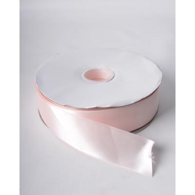 Лента атласная 3,8 см зефирно-розовая DL
