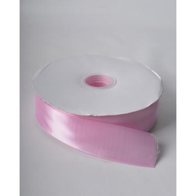 Лента атласная 3,8 см розовый тюльпан DL
