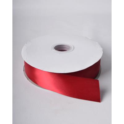 Лента атласная 3,8 см скарлет DL