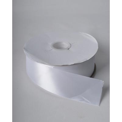 Лента атласная 5 см белая DL