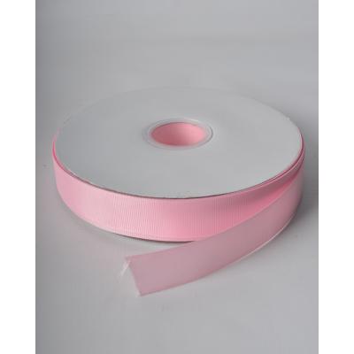 Лента репсовая 2,5 см жемчужно-розовая LW
