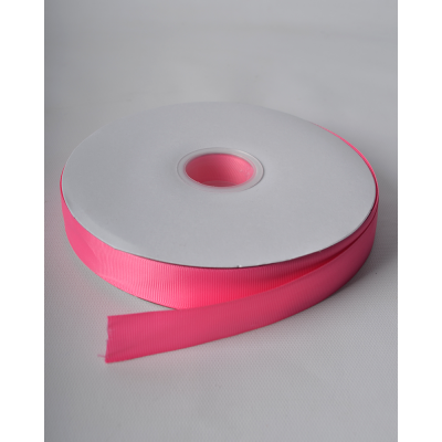 Лента репсовая 2,5 см ярко-розовая LW