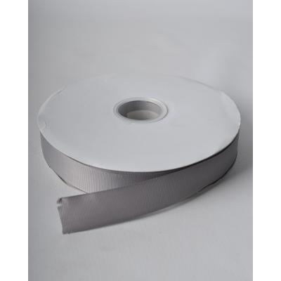 Лента репсовая 2,5 см темно-серая LW