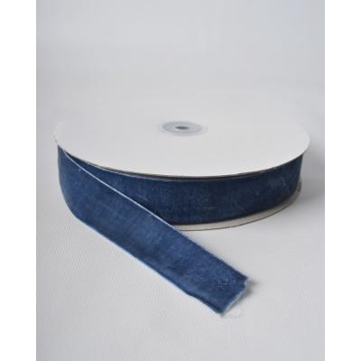 Лента бархатная 2,5 см Насыщенно синий RD