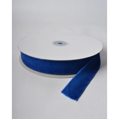 Лента бархатная 2,5 см синяя RD