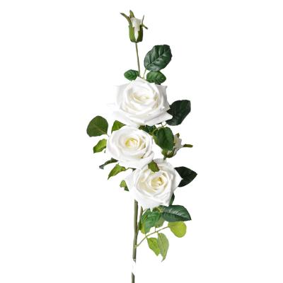 """Искусственный цветок """"Роза белая"""" 1 м"""
