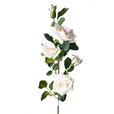"""Искусственный цветок """"Роза молочная"""" 1 м"""