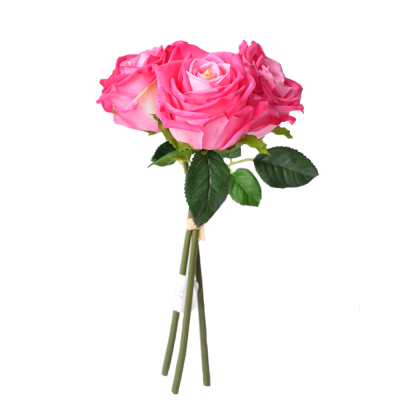 """Искусственный цветок """"Роза розовая"""" 3 штуки"""