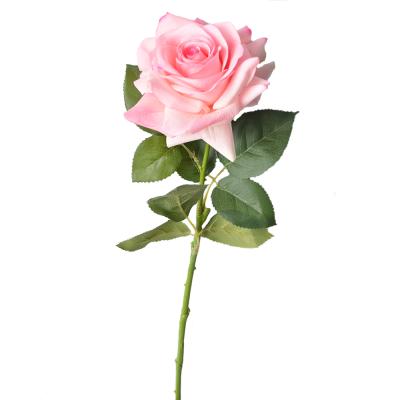 """Искусственный цветок """"Роза нежно-розовая"""" 75 см"""