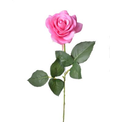 """Искусственный цветок """"Роза ярко-розовая"""" 40 см"""