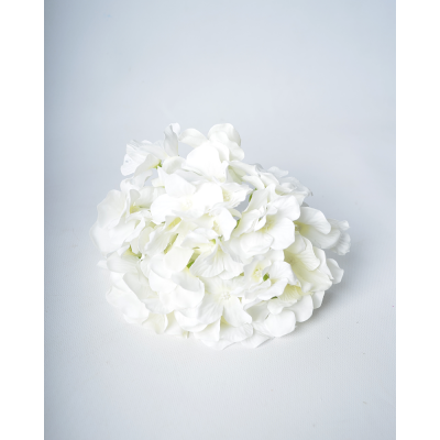 """Искусственный цветок """"Гортензия белая"""""""