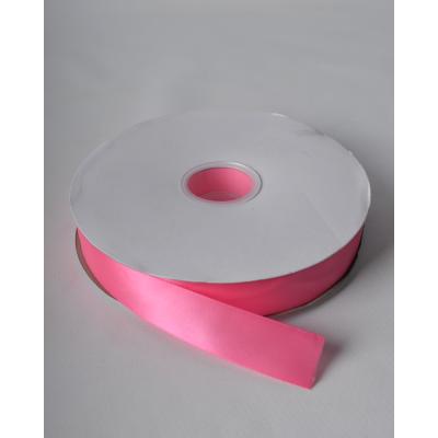 Лента атласная 2,5 см насыщенно-розовая DL