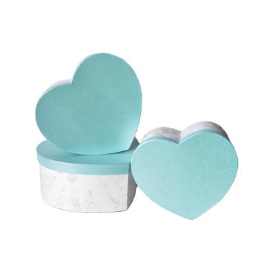 """Набор коробок """"Сердце"""" голубой"""