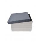 Коробка квадратная с серой крышкой