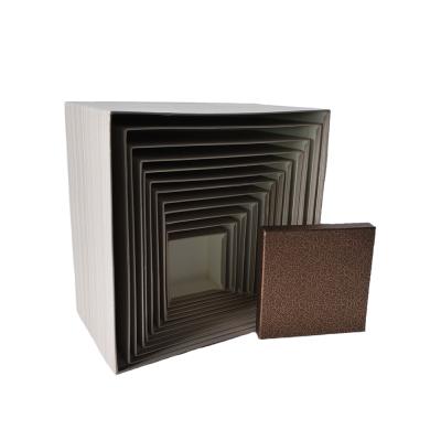 Коробка квадратная с бронзовой крышкой