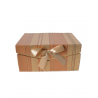 Коробка подарочная прямоугольная бронзовая