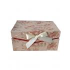 Коробка подарочная прямоугольная кофейно-красная