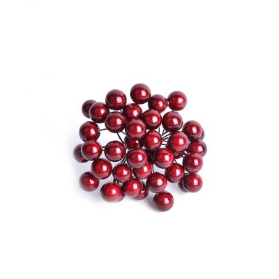 Искусственные ягоды бордовые, пучек