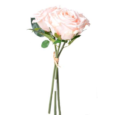 """Искусственный цветок """"Роза персик овая"""" 3 штуки"""