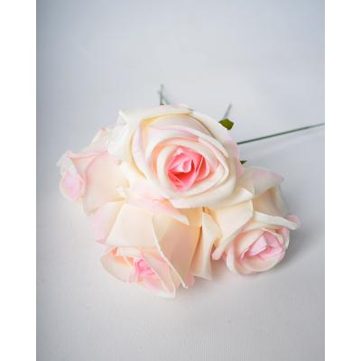 """Набор искусственных цветов """"Роза бело-розовая"""" 4 шт"""