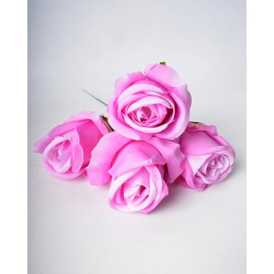 """Набор искусственных цветов """"Роза сиреневая"""" 4 шт"""
