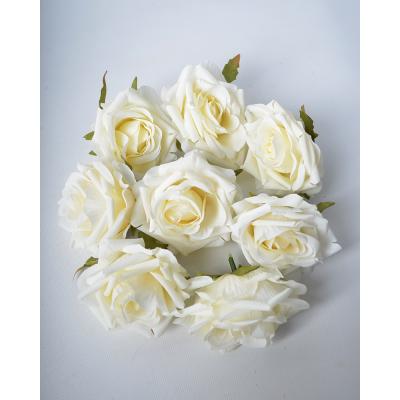 """Набор искусственных цветов """"Роза молочная"""" 8 шт"""