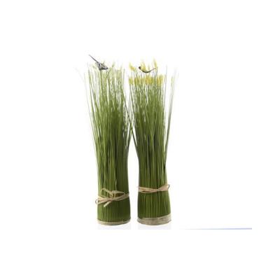 Трава искусственная с цветами