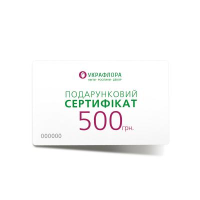 Подарочный сертификат 500 грн.,  949455 - купить  в магазине Украфлора по лучшей цене, всего 500 грн