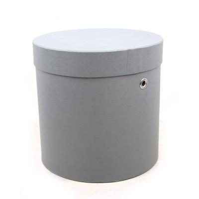 Коробка круглая серая