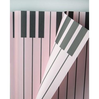 Бумага влагостойкая Пианино, 60*60см, 20 листов, розовый