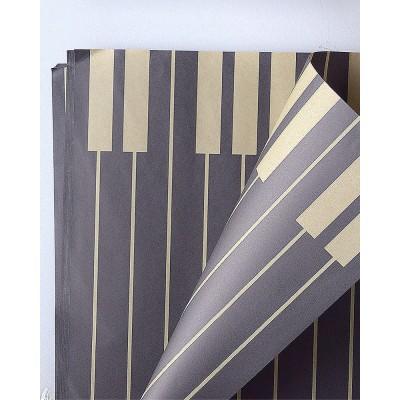 Бумага влагостойкая Пианино, 60*60см, 20 листов, чорный