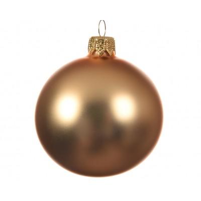 Набор шаров 10 см, 4 шт, золот.цвета, мат, стекло