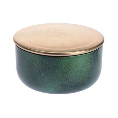 Шкатулка 11 см, зеленый, металл,  6-11658 - купить  в магазине Украфлора по лучшей цене, всего 346 грн