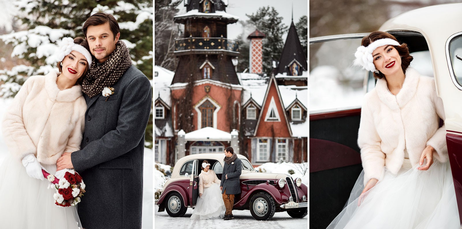 Зимний образ невесты. Как правильно выбрать цветы и аксессуары?