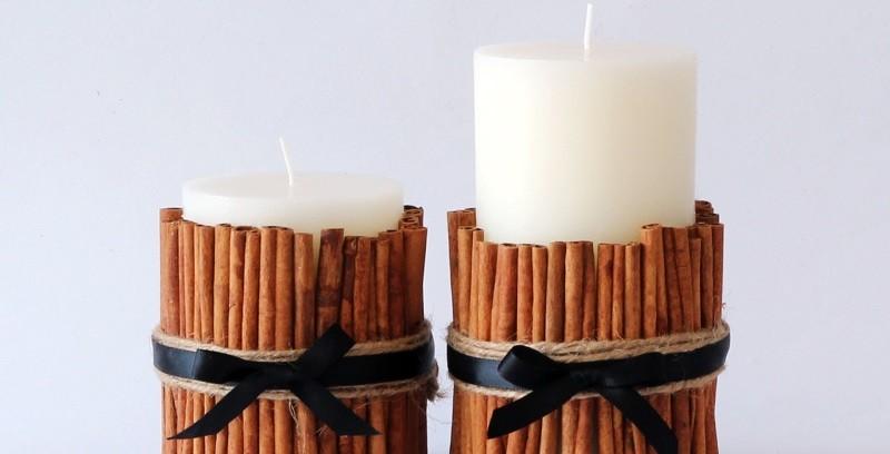 Оригинальные декоративные свечи